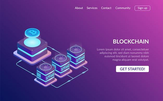 Page de destination de la blockchain