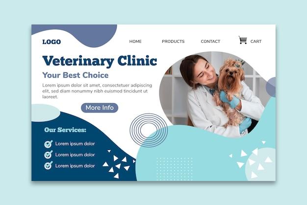 Page de destination de la clinique vétérinaire