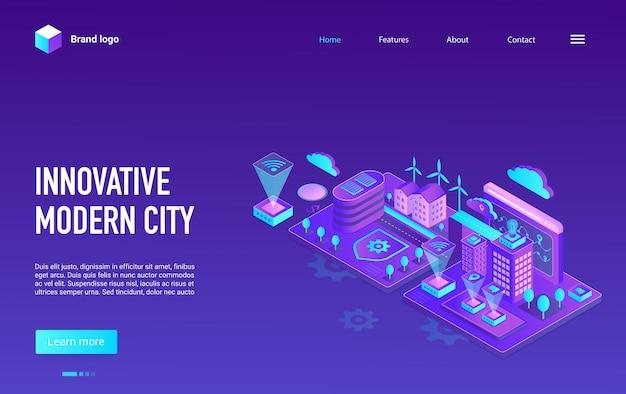 Page de destination de concept moderne créatif