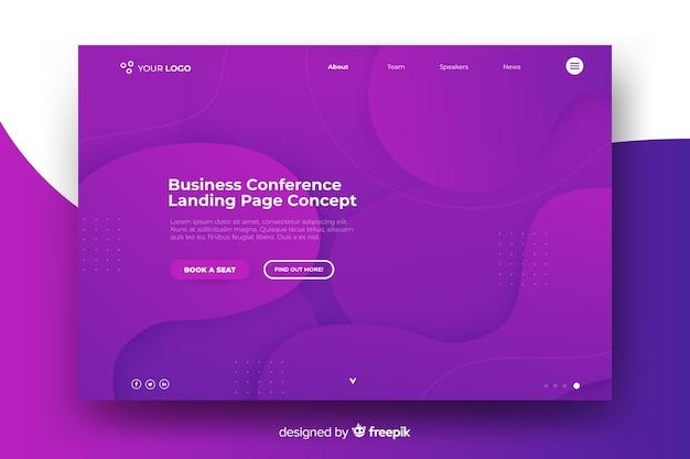 Page de destination d'une conférence d'affaires