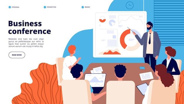 Page de destination de la conférence d'affaires