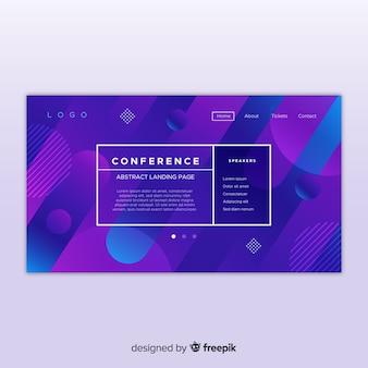 Page de destination de la conférence