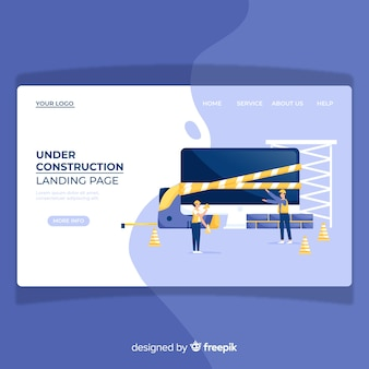 Page de destination en construction