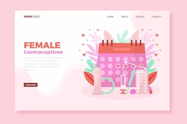 Page de destination des contraceptifs féminins