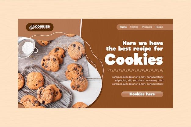 Page de destination des cookies au chocolat