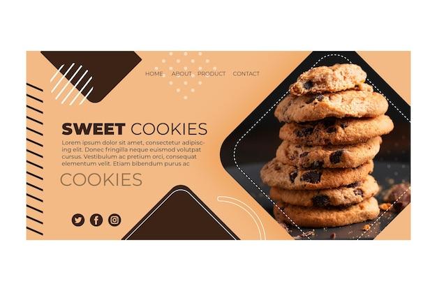 Page de destination des cookies sucrés