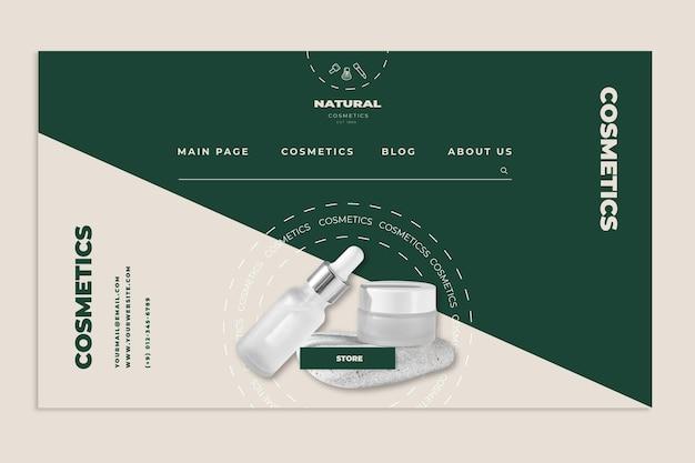 Page de destination cosmétique