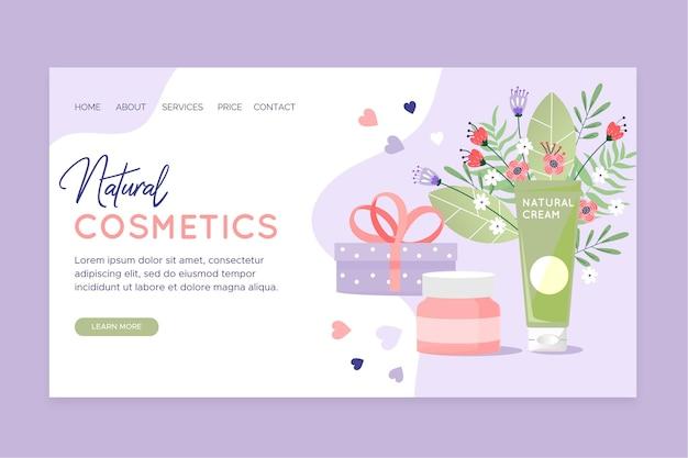 Page de destination des cosmétiques nature