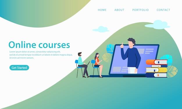 Page de destination des cours en ligne
