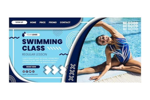 Page de destination des cours de natation