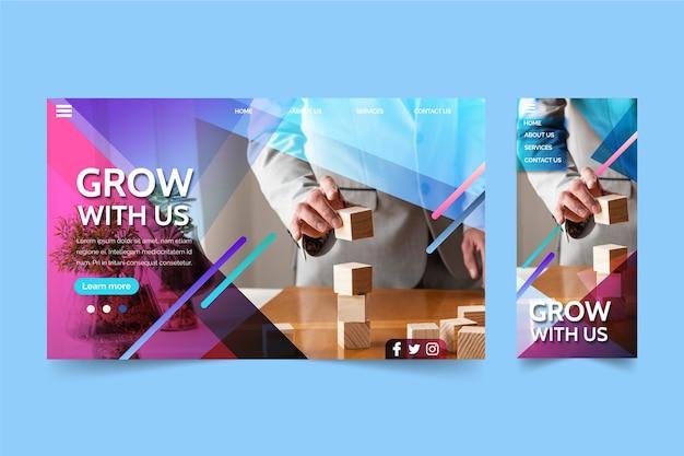 Page de destination de la croissance des entreprises