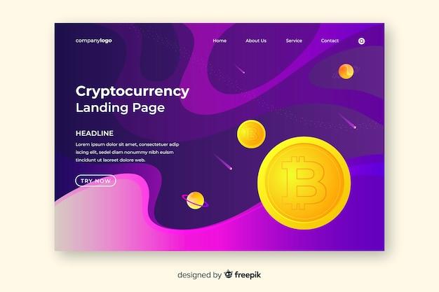 Page de destination de crypto-monnaie
