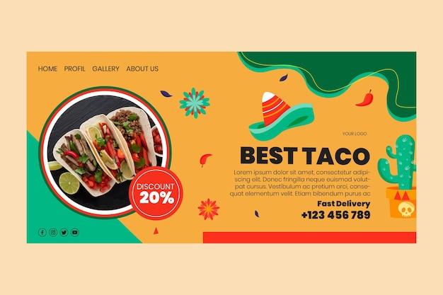 Page de destination de la cuisine mexicaine