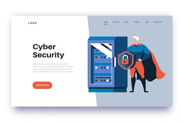 Page de destination cyber security