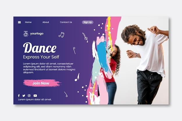 Page de destination de danse