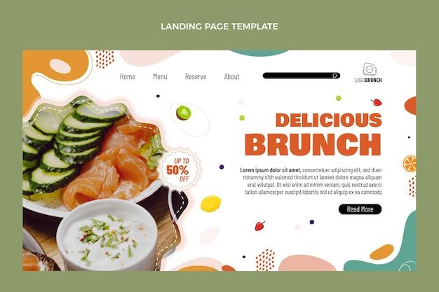 Page de destination de délicieux brunch au design plat