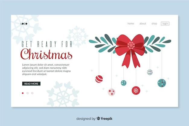 Page de destination design noël