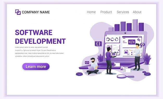 Page de destination développement de logiciels et programmeurs