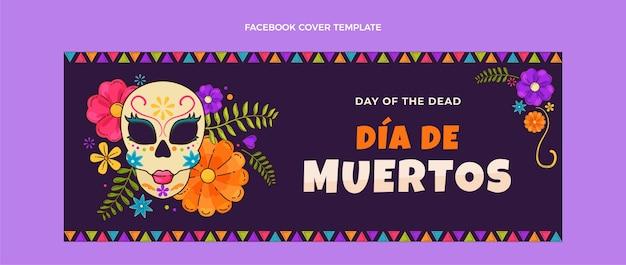 Page de destination dia de muertos design plat dessiné à la main