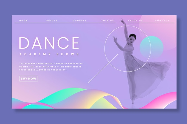Page de destination du ballet dansant