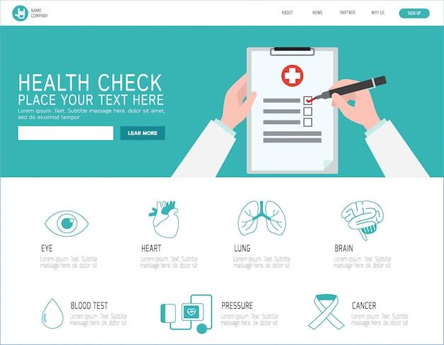 Page de destination du bilan de santé
