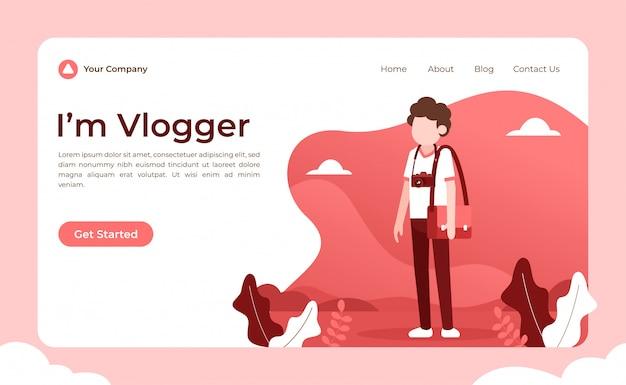 Page de destination du blogueur vidéo