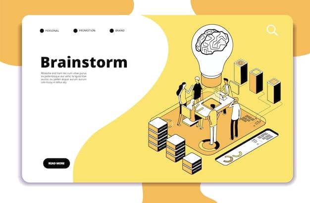 Page de destination du brainstorming