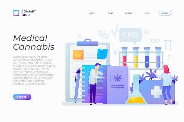 Page de destination du cannabis médical