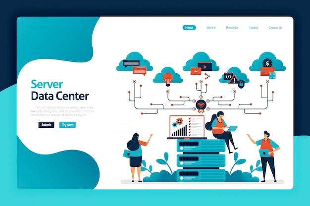 Page de destination du centre de données du serveur
