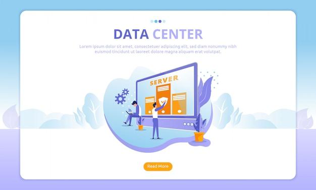 Page de destination du centre de données