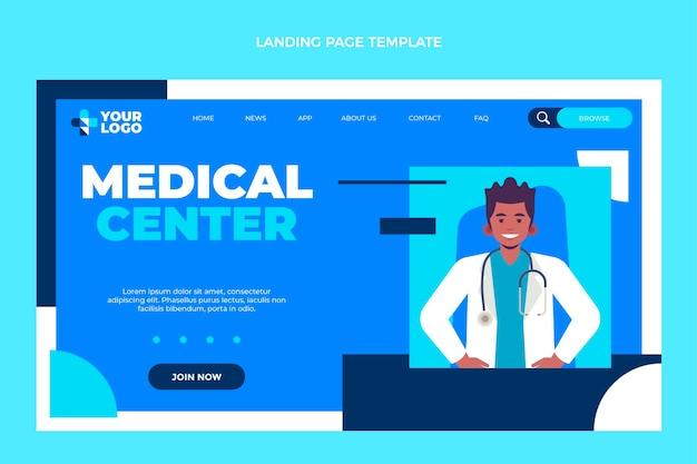 Page de destination du centre médical design plat