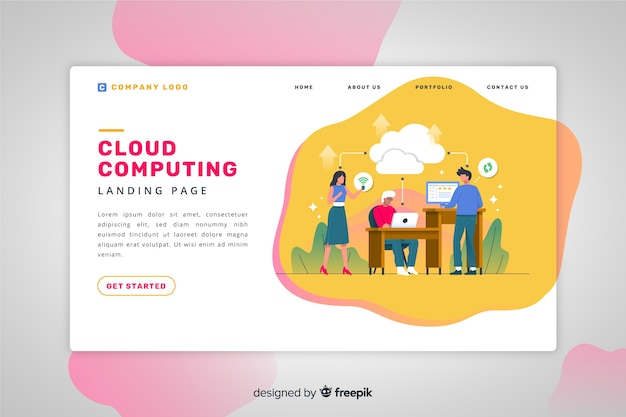 Page de destination du cloud computing