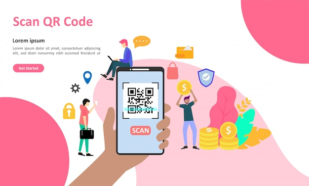 Page de destination du code qr