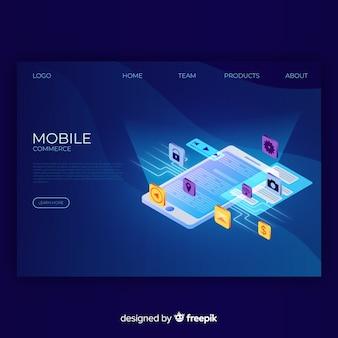 Page de destination du commerce mobile