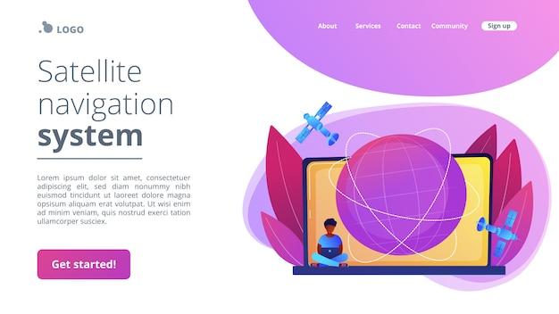 Page de destination du concept de connexion web globale.
