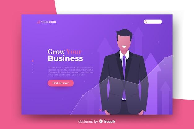Page de destination du concept d'entreprise