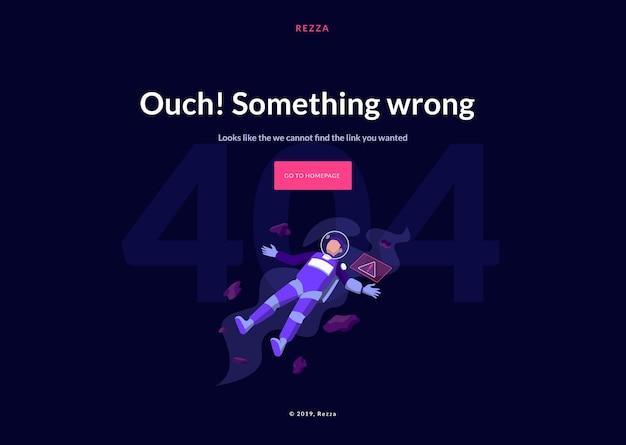 Page de destination du concept d'erreur