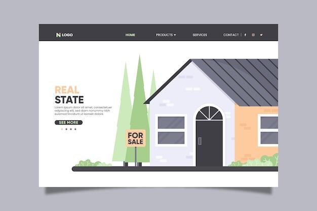 Page de destination du concept immobilier