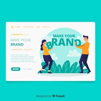 Page de destination du concept de marque
