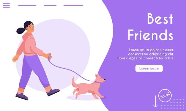 Page de destination du concept des meilleurs amis