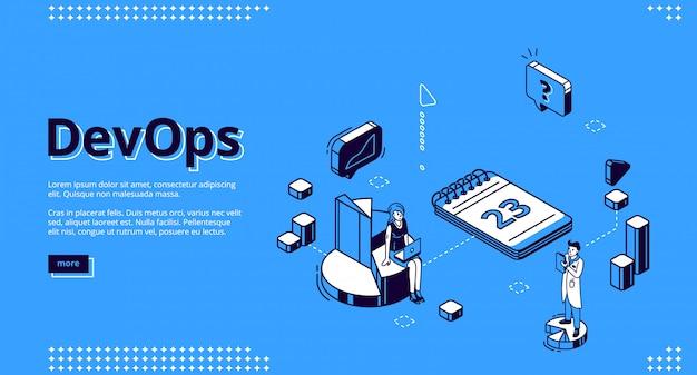 Page de destination du concept des opérations de développement