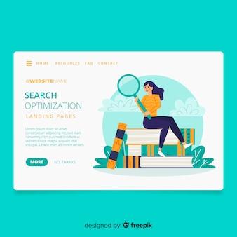 Page de destination du concept de recherche