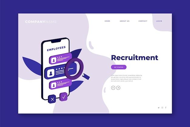 Page de destination du concept de recrutement
