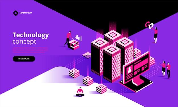 Page de destination du concept technologique