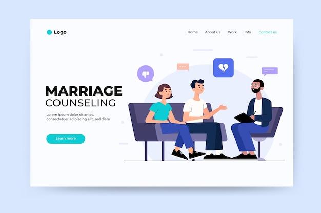 Page de destination du conseil en mariage