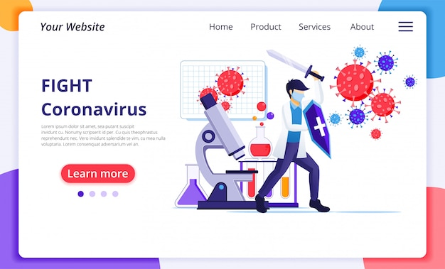 Page de destination du coronavirus