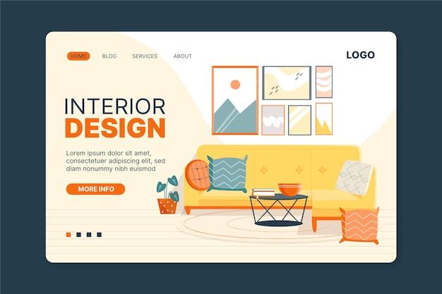 Page de destination du design d'intérieur