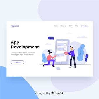 Page de destination du développement d'applications