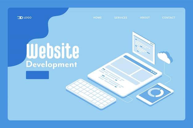 Page de destination du développement du site web