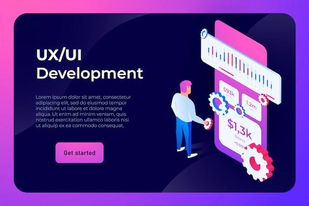 Page de destination du développement ui ux